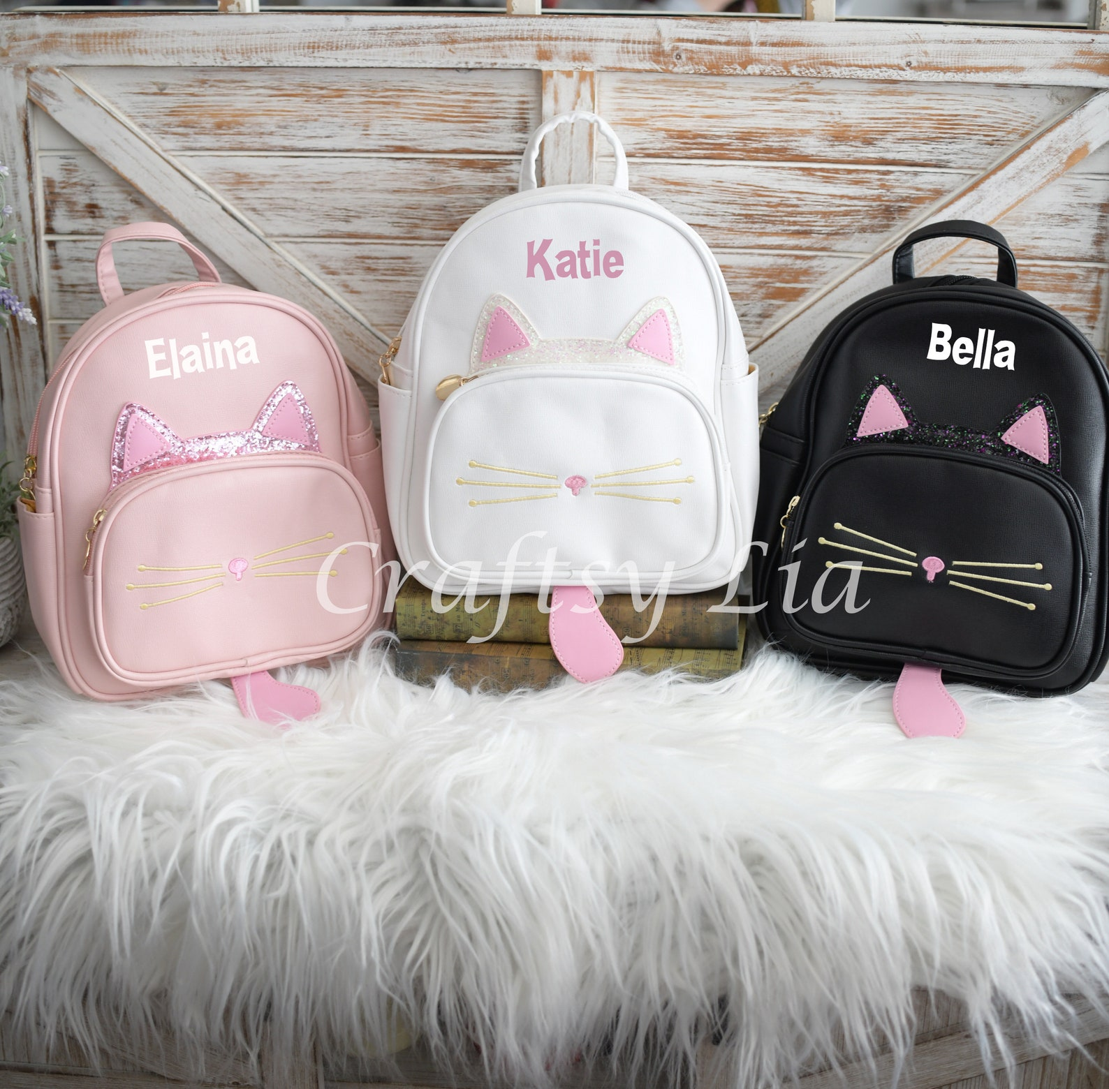 Personalized Kitty Cat Backpack