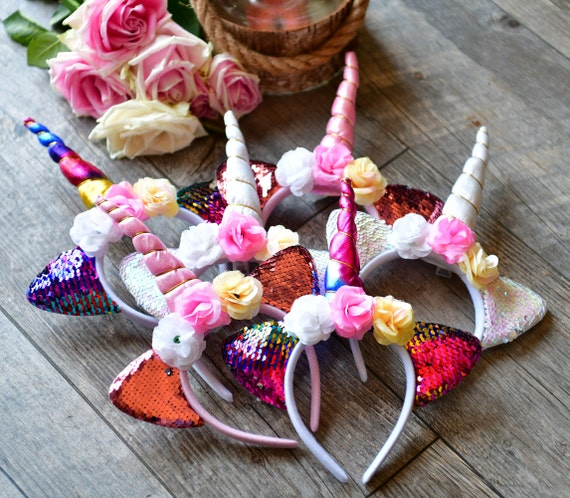 ​​Rainbow Sequined Magical Unicorn Headband