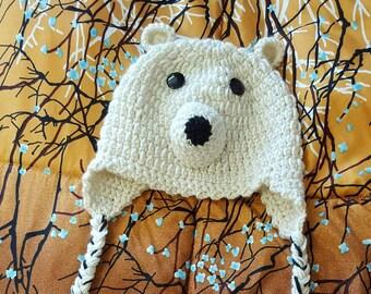 Bambini   adolescenti di Polar Bear Hat 9840a2b33751