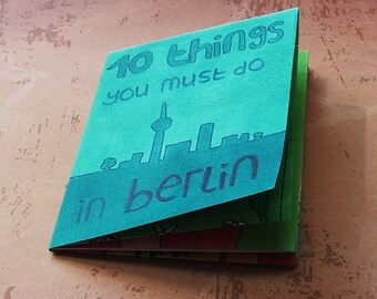 Handmade illustrated Zine/booklet about Berlin 7,5 x 10,5 cm
