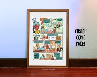 Custom comic book, custom gift,wedding gift,anniversary gift,birthday gift,digital file,printable file,custom portrait,cartoon portrait