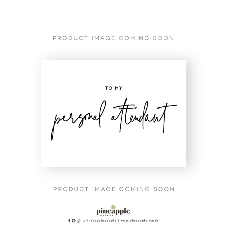 Styled Gold Wedding Cards Personal Attendant Note Card My Personal Attendant Card To My Personal Attendant To My Personal Attendant Card