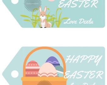 Les étiquettes Pâques - custom noms - couleurs personnalisées - 2018