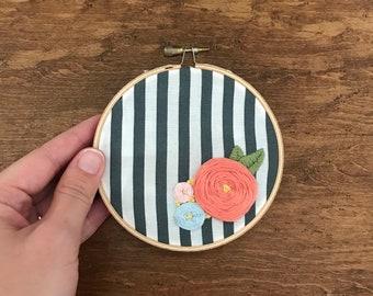 Simple Flower Embroidery Hoop