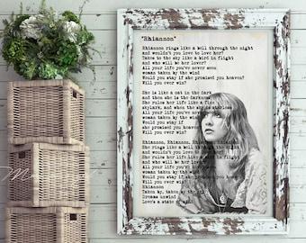 Stevie Nicks Rhiannon Art Print