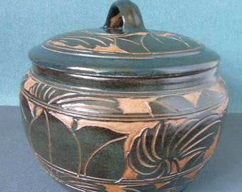 Pot with lid-plant-empty Pocket-glazed art deco Victorian cut fruit is hand-empty pocket-pot with lid