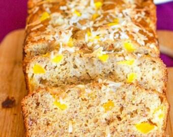 White Chocolate Mango Banana Bread