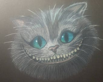Original Drawing Cheshire Cat Alice in Wonderland