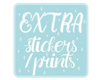 EXTRA stickers/prints of YOUR custom digital portrait