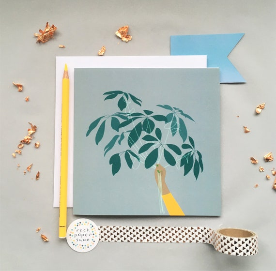 Leaf Balloons Card - Just Because Card