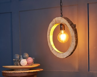 Ceiling wooden lamp with Edison bulb   Lighting, Wall lamp, Home decor, Industrial lamp, Rustic decor, Bedside lamp