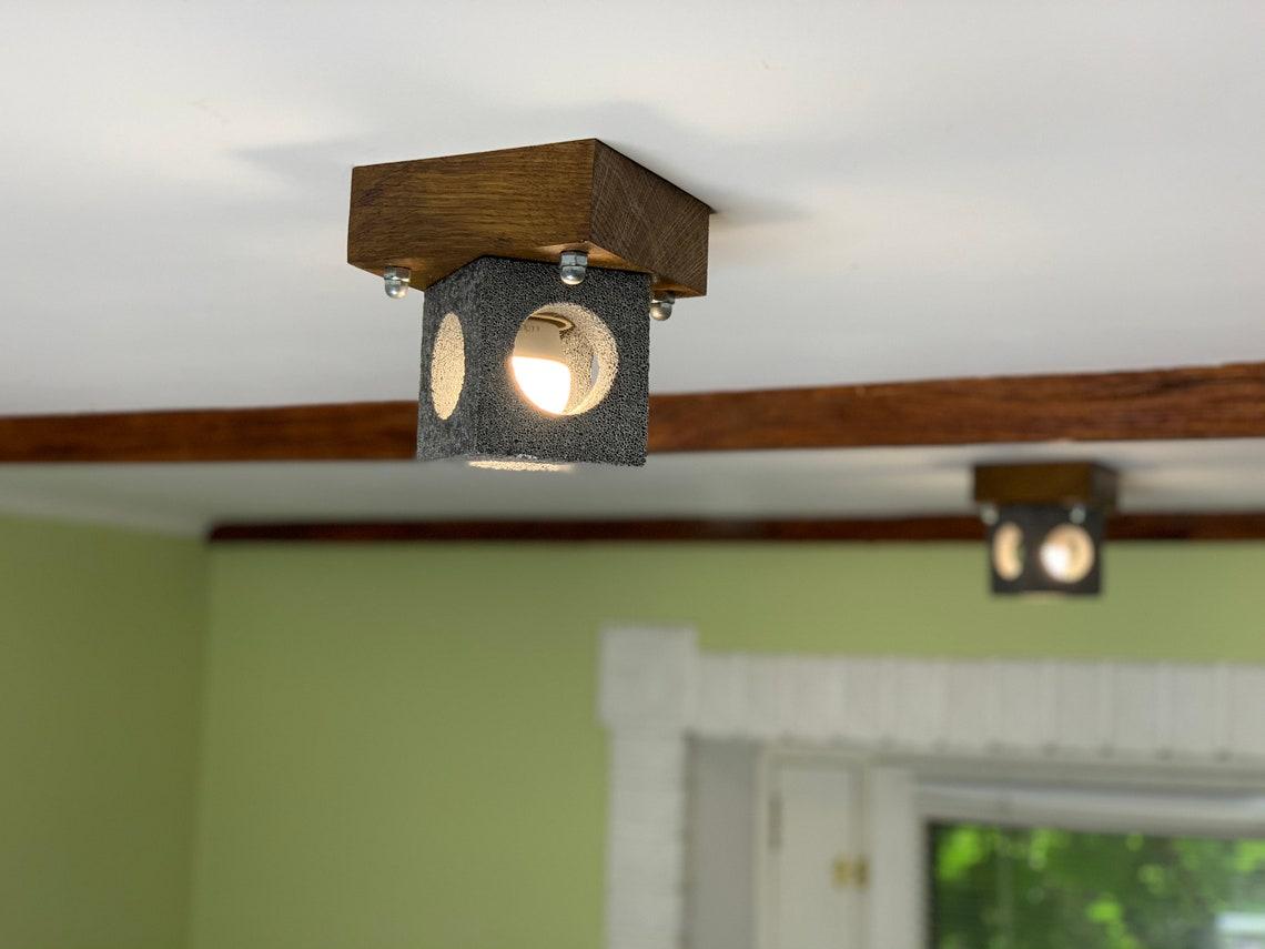 Concrete Pendant Light Ceiling Light Kitchen Lighting Concrete Lamp Dining Room Lighting Living Room