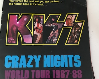 Kiss Crazy Nights First Edition Tour Book