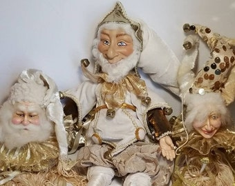 Katherine\u2019s Collection Jester Head ~ Christmas Ornament ~ Holiday Decor