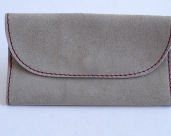 Handmade suede leather tobacco pouch