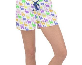 Dino Friend Drawstring Pajama Shorts