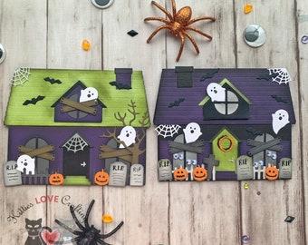 Halloween House Cards