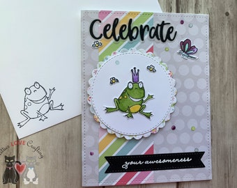 Froggy Encouragement Card: Celebrate Your Awesomeness