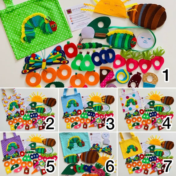 Felt Book Very Hungry Caterpillar Gift for birthday Gift for toddlers Felt fruits vegetables Quiet activity sensory toy and play