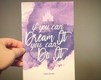 Dream It - 6x9 Linen Finish Print