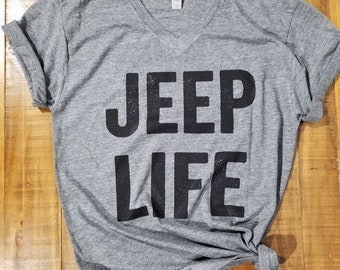 b626cdbdc Jeep Life T-Shirt | Heather Grey | Super Soft Triblend Top
