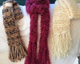 Textured Winter Scarf Hand Knit