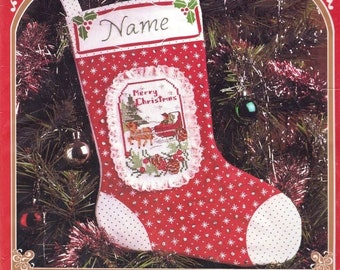 Sleigh Ride Christmas Counted Cross Stitch Stocking Kit 2981B Vogart Crafts