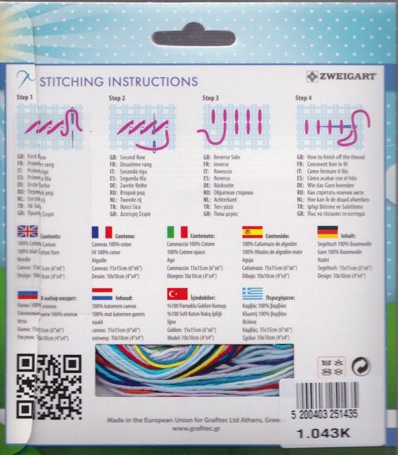 "NeedleArt World Frolicking Seahorse Beginner Needlepoint Starter Kit 4/"" x 4/"""