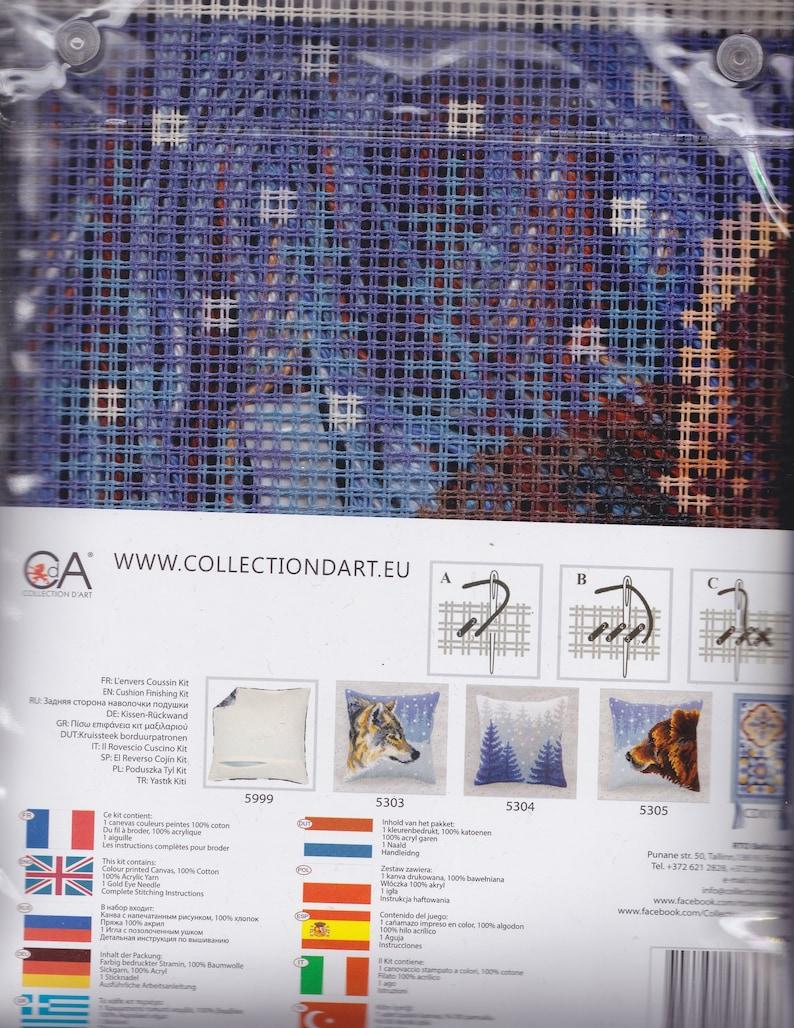 Collection D/'Art Winter Animals Bear Chunky Cross Stitch 16 Cushion Pillow Top Kit