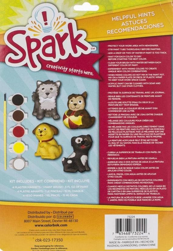 Colorbok Spark Plaster Magnets Multi-Colored Unicorn