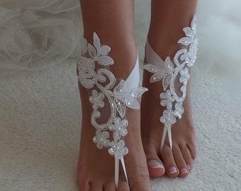 Anklet free shipping bridal sandals bridesmaids, B\u0130G D\u0130SCOUNT Barefoot sandals,beach,Imitation leather flowers,wedding sandals,shoes