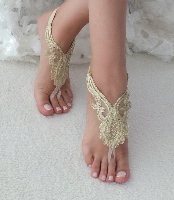 aux pieds dentelle nus de d Sandales Z7dFgZ