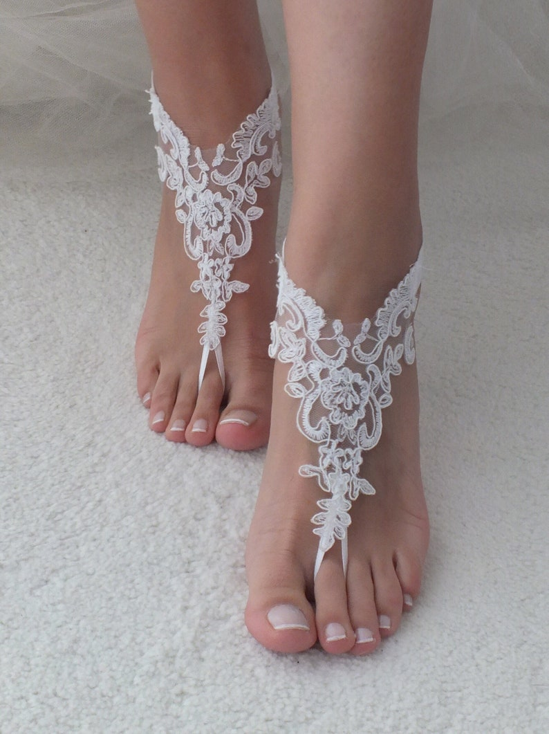 c710c095ea9d EXPRESS SHIPPING Beach shoes Lace barefoot sandals Beach