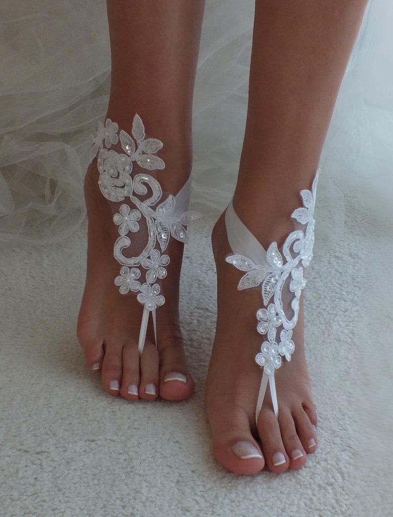 3584e86d18d4f EXPRESS SHIPPING 6 COLORS Beach wedding barefoot sandals