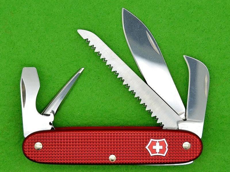 Swiss Army Knife Victorinox Alox Pioneer Harvester Red Etsy