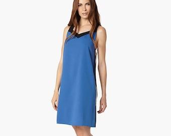 Dark Blue Shift Summer Dress