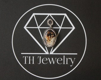 Turkish Jewelry, Gemstone Pendant - 925 Sterling Silver with Swarovski Elemenst / Handmade Turkish Jewelry
