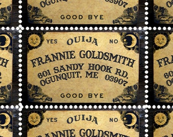 Sheet of 9 Gummed /& Perforated Custom Bookplate Labels//Stamps Ex Libris