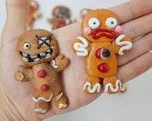 Krampus Killer Evil Gingerbread  Man Kitchen Decor Refrigerator Fridge Magnets Set