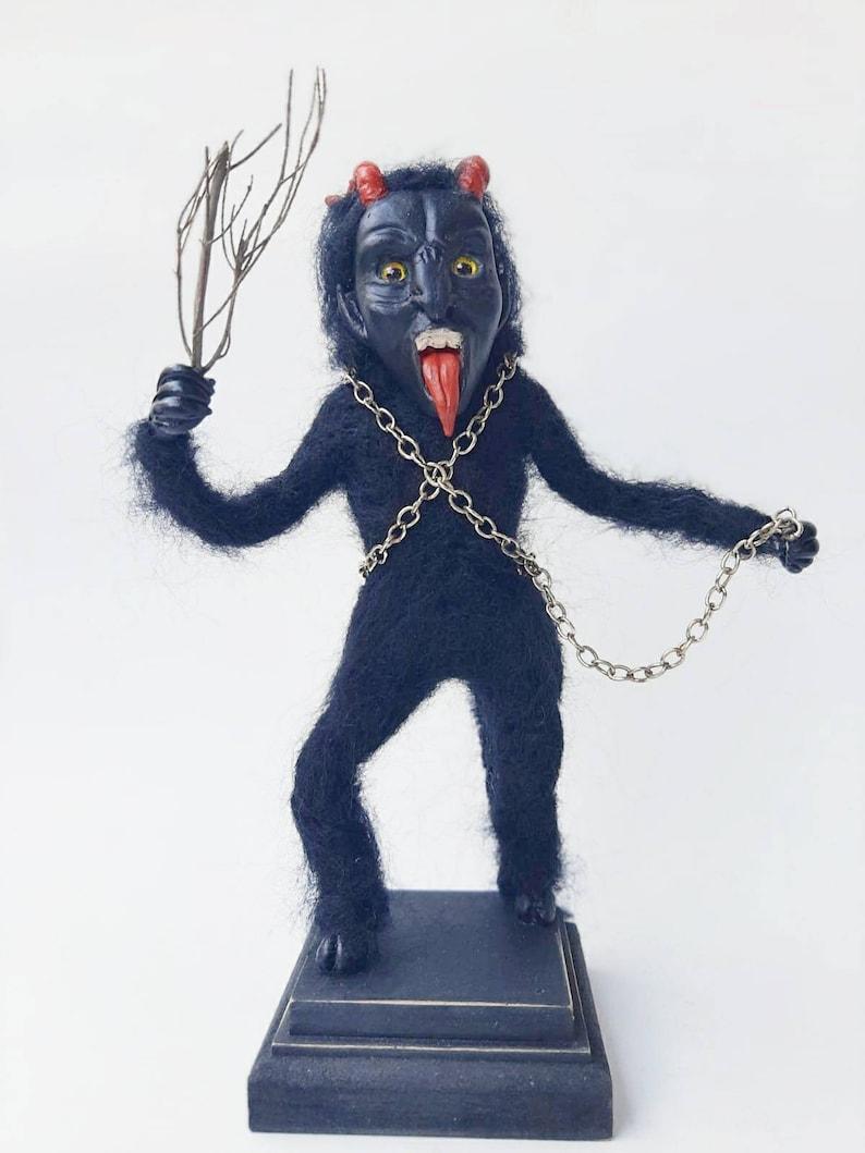 Krampus Spooky Doll Christmas Decorations Artdoll | Etsy