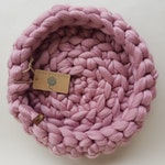 Soft Pink Cat Bed - Chunky Giant Crochet