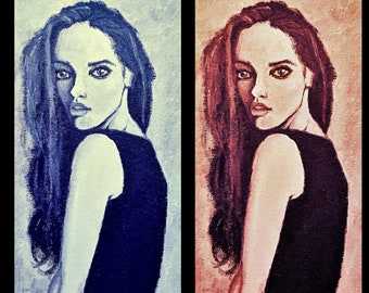 "Girl Painting Print 8"" x 12"""
