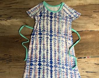 Girls Dress Size 8 T-shirt knit custom length