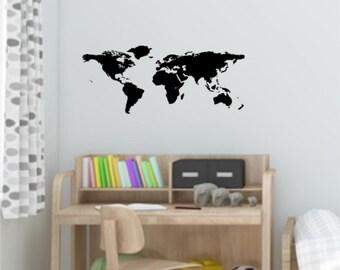 World Map - Wall decal sticker