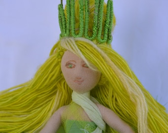 one of a kind handmade soft art doll