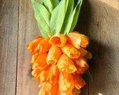 Carrot Tulip Door Swag, Tulip Door Swag, Carrot Door Swag, Easter Door Swag, Easter Wreath, Farmhouse Decor, Wreath, Outdoor Decor, Seasonal