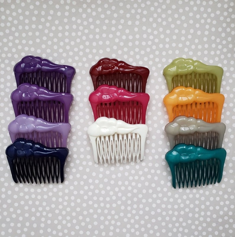 Buch And Deichmann floral Hair Comb, Unused Deadstock