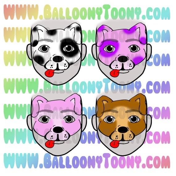 FACE PAINTING Menu Clipart 5 Images BUNDLE- Puppy Dog - Face Paint Design