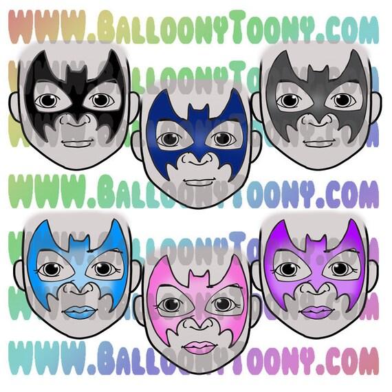 batman and batgirl bundle face painting menu clipart images etsy
