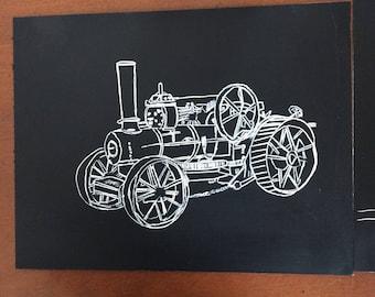 Numerous pieces of scratch art for sale
